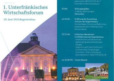 1.Unterfraenkisches-Wirtschaftsforum Programm