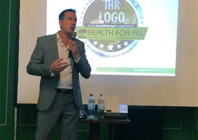 Vortrag HEALTH FOR ALL® Scherbaum, Wirtschaftsforum Bad Kissingen