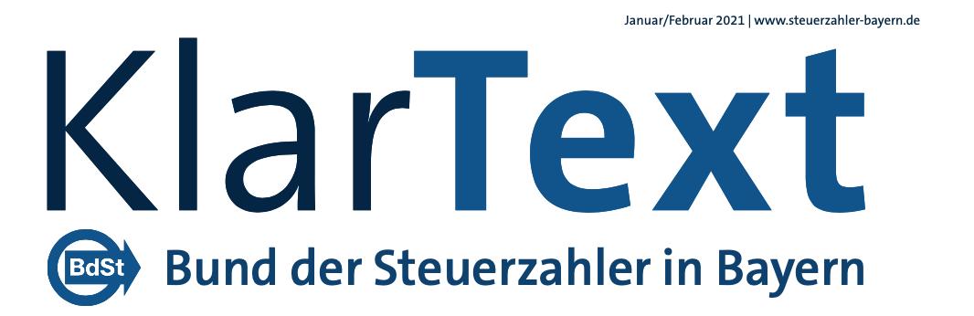 Klartext Ausgabe 1/ 2021_bKV-Artikel Senator h.c. Marco Scherbaum _Bund der Steuerzahler_HEALTH FOR ALL