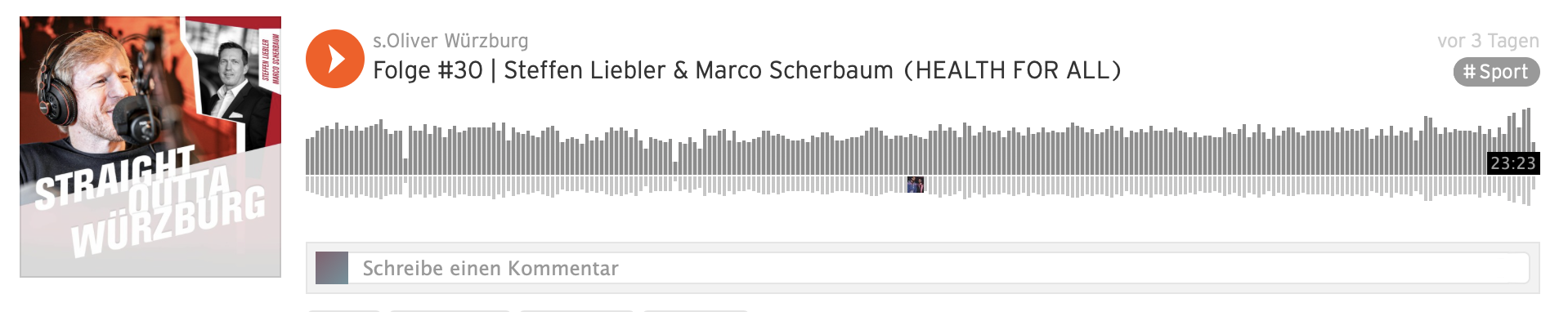 Soundcloud s.Oliver Würzburg_Gast Steffen Liebler_Marco Scherbaum_HEALTH FOR ALL