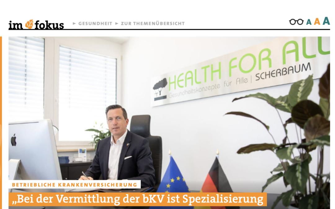 Pfefferminzia Interview mit bKV-Experte Senator h.c. Marco Scherbaum