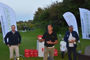 Siegerehrung HEALTH energy GolfCup 2021 Golfclub Würzburg Bernhard May, Marco Scherbaum, Walter Malcherek