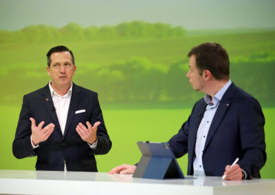 TV-Wirtschaftstalk Making Off
